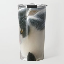 A Max And Mantle Bi Colour Cat Travel Mug
