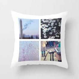 Squares #1: Berlin / Winter Throw Pillow