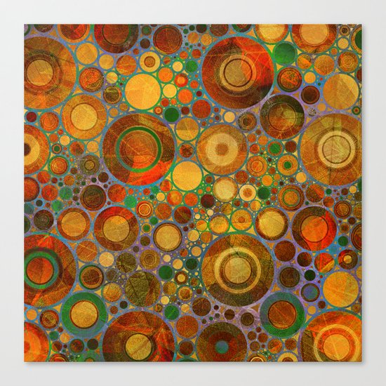 Abstract Circles Pattern 2 Canvas Print