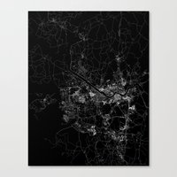 seoul Canvas Prints featuring Seoul by Line Line Lines