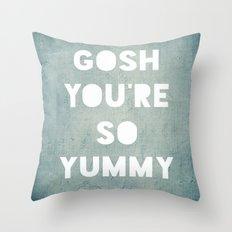 Gosh (Yummy) Throw Pillow