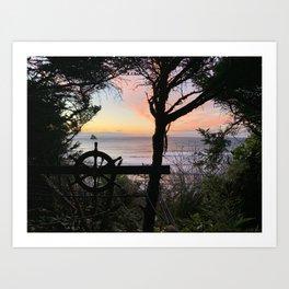 Secret Playground Sunset Art Print