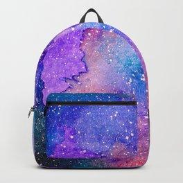 Purple Watercolor Galaxy Backpack