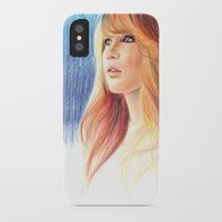 jennifer lawrence iPhone & iPod Cases featuring Jennifer Lawrence by xDontStopMeNow