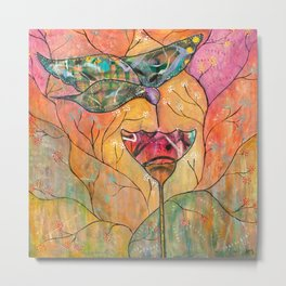 Hummingbird Heartbeat Metal Print