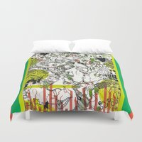 evolution Duvet Covers featuring Evolution  by Devin Feely