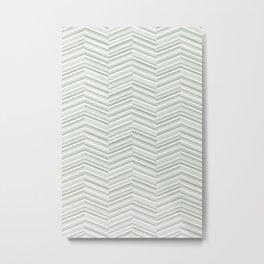hallsley narrow herringbone - sage green Metal Print