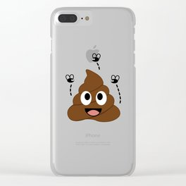 A stinky poop attracting house flies Clear iPhone Case