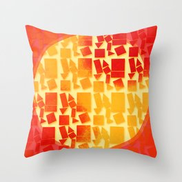 Geometric Shapes -Fire Throw Pillow