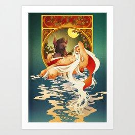 Krampus X Santa 4EVA Art Print