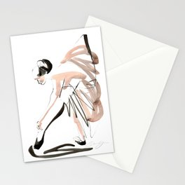 Gesture Dance Drawing Stationery Cards