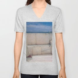 Expectations by Sir Lawrence Alma Tadema | Reproduction Unisex V-Neck