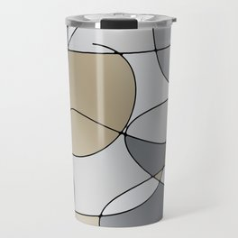 ABSTRACT CURVES #1 (Grays & Beiges) Travel Mug