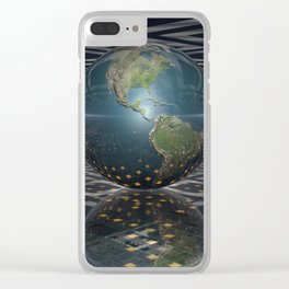 Earth Horizons Clear iPhone Case