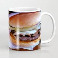 burger Mugs featuring burger by SantaCruz PhotoTours
