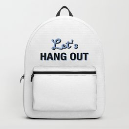 Let's HANG OUT Cerulean Blue Love Backpack