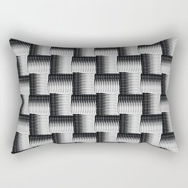 Black Waves Rectangular Pillow