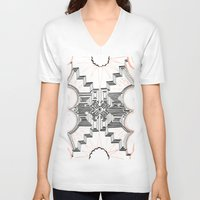 gatsby V-neck T-shirts featuring Gatsby Mandala by HRE.