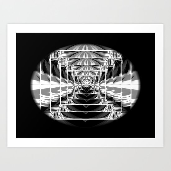 Black+White Abstract.Modern. Art Print