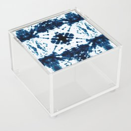 Velvet Shibori Blue Acrylic Box