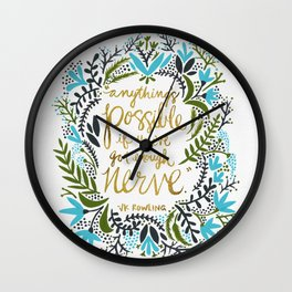 Anything's Possible Wall Clock