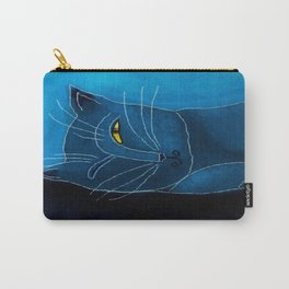 Sleeping Cat Abstract Digital Painting Carry-All Pouch