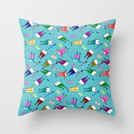 Teeth People Throw Pillow