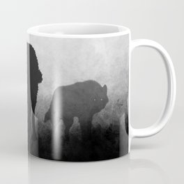 Black and White Wolfpack Coffee Mug