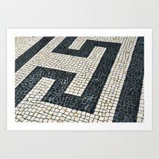 Portuguese sidewalk pavement Art Print