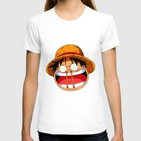 luffy T-shirts featuring Luffy & Nose Sticks! by Orfik