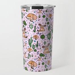 Fennec Foxes in Pink Travel Mug