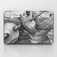 narwhal iPad Cases featuring Narwhal by GrimReminders