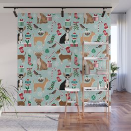 Chihuahua christmas best gifts for chihuahua owners dog pet portraits pet friendly Wall Mural