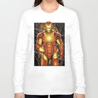 iron man Long Sleeve T-shirts featuring Iron man by Fathi