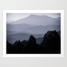 Misty morning at the Smoky's Art Print