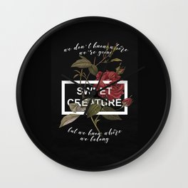 Harry Styles Sweet Creature Wall Clock