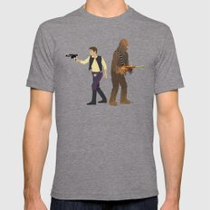 Han & Chewie Tri-Grey Mens Fitted Tee LARGE