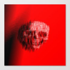 Etched Skull Canvas Print