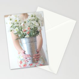 Daisies & Vintage Apron Stationery Cards