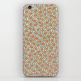 Ditsy Flora Orange iPhone Skin