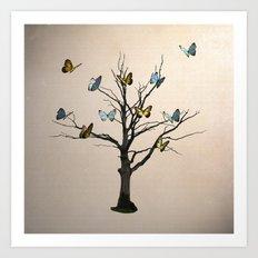 Tree of flutters Art Print