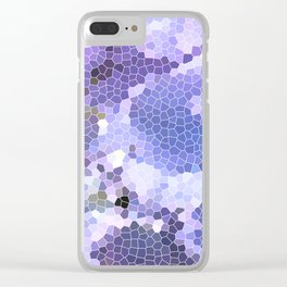 Abstract Purple Mosaic Art | Geometric | Spring Clear iPhone Case