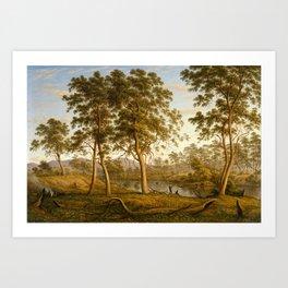 John Glover , Natives On The Ouse River, Van Diemen's Land Art Print