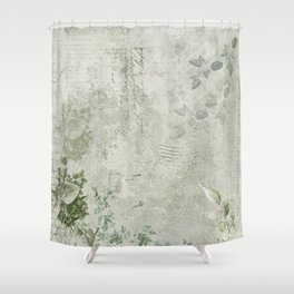 Faded Vintage Stationery Shower Curtain