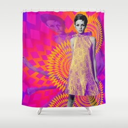Supermodel Twiggy 1 - Supermodels of the Sixties Series Shower Curtain