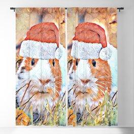 Aquarell Christmas Guinea Pig Blackout Curtain
