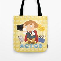 actor Tote Bags featuring Actor by Alapapaju
