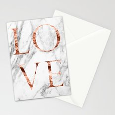 Rose gold marble LOVE Stationery Cards