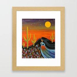 Desert Mother Framed Art Print