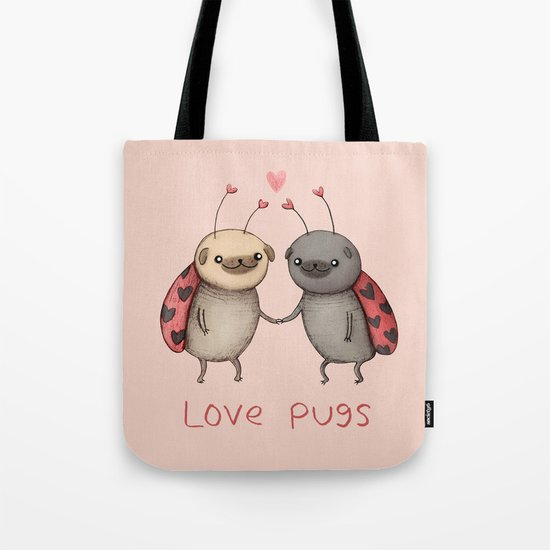 Love Pugs Tote Bag